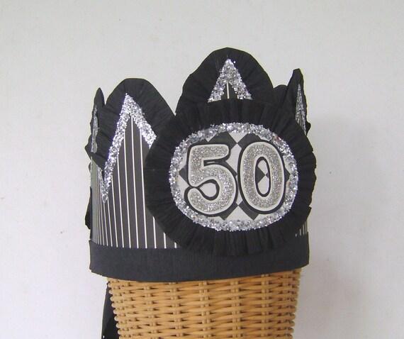 Mens 50th Birthday Party Crown Mens 50th Birthday Hat 50th