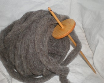Drop Spinning Kit Low Whorl Split Notch Drop Spindle Maple/Birch  26 g  Natural Roving