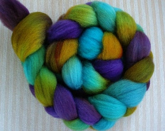 "BFL Hand Dyed Combed Top 4 Oz. ""Malala"""