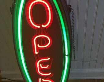 NEON OPEN SIGN, Shop Display, Store Signage, Advertising at Modern Logic