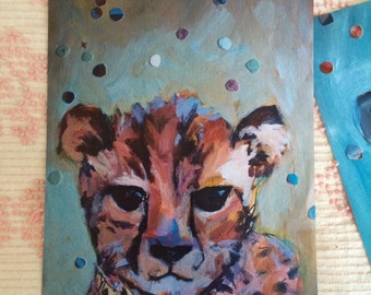 Little Cheetah : Art Print