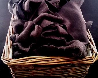 Black fleece scraps destash CLEARANCE