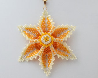Tutorial Aviana Flower Pendant-Beading Tutorials and Patterns by Ellad2,