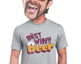 beer and wine t-shirt gifts for men beer drinkers foodies beer snobs funny geeky t shirt craft beer novelty t-shirts for men sm thru 4xl