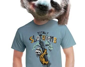 totally slothsome t-shirt art original design sloth t shirt trendy tshirt for sloths men funky gift for dad teens geek nerd college kid s-4x