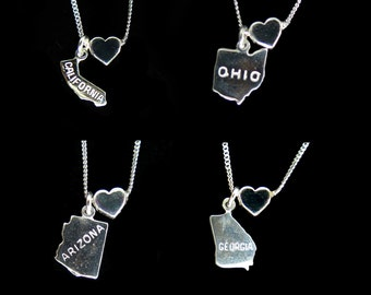 State Love - You Choose - Sterling Silver Charm Necklace