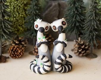 Lemur Wedding Cake Topper - Ring-tailed Lemur by Bonjour Poupette