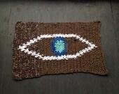 Brown & Blue 3rd Eye Rug