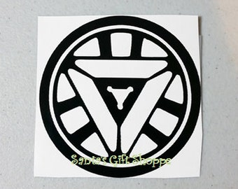 Father's Day, Ironman Inspired, Arc Reactor Decal, Captain America Civil War Inspired, Arc Reactor, vinyl decal, Movie, icon, Thor, Hulk