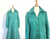 Vintage Coat Dress - gree...
