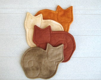 Kitty Cat Coasters Set of 4