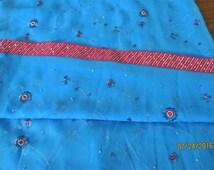 Sari Fabric with Trim