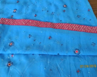 Sari Fabric with Trim
