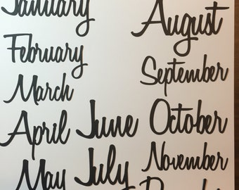 Months of the Year Die Cuts - perfect for Project Life
