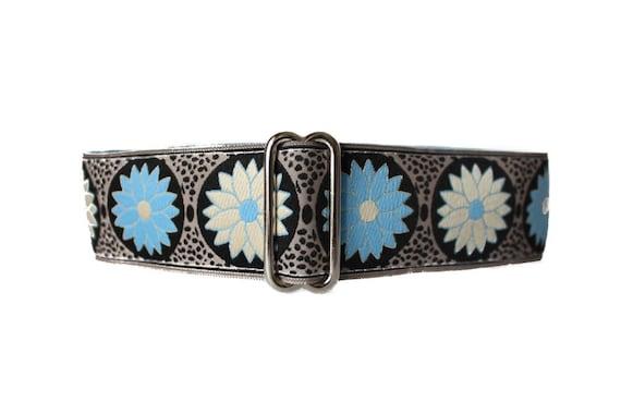 1.5 inch Martingale Collar, Jacquard Martingale Collar, Daisy Dog Collar, Greyhound Collar, Wide Dog Collar, Dog Collars Canada