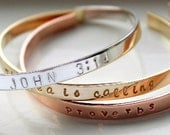 Custom Cuff Bracelet, Personalized Cuff Bracelet, Personalized Jewelry, Custom Jewelry, Mother's Jewelry, Bridal Gift, Gold Silver Rose Cuff