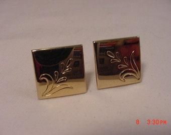 Vintage Engraved Swank Cufflinks   16 - 183
