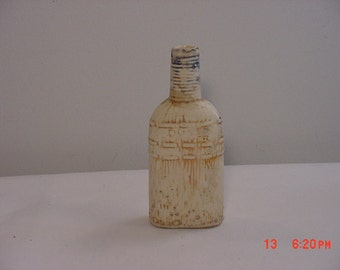 Vintage Ceramic Figural Whiskey Nip In The Shape Of A Wisk Broom  16 - 280
