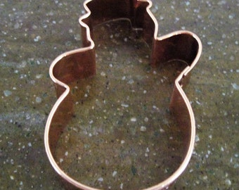 Vintage Large Copper Cookie Cutter Snowman Design