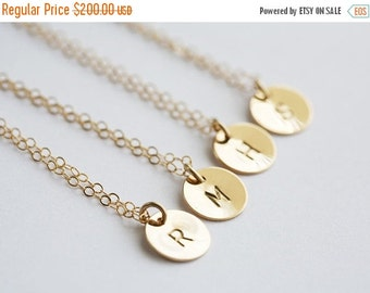 15% OFF WEEKEND SALE Set of 8,Gold Filled,Initial necklace,bridesmaid gifts,bridesmaid necklace,wedding jewelry,Graduation Gift