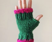 Chunky knit fingerless gloves -accessories for under 35