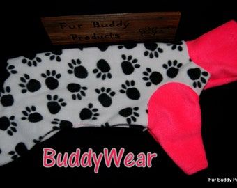 """Reduced 15"""" and 16"""" Ready to Ship BuddyWear fleece outfit for Italian Greyhounds, Hairless Terriers, Cresteds and all small dogs"""