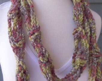 PATTERN S-002 / Crochet Pattern / Helix Skinny Scarf ... chunky 84 yards