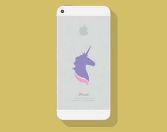 UNICORN VINYL DECAL, Two Color Decal, iPhone Decal, Vinyl Sticker