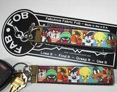 Daffy Wile Bugs Sylvester Taz Marvin Speedy Pepe ~ C37 ~ Key Chain Fob ~ Zipper Pull