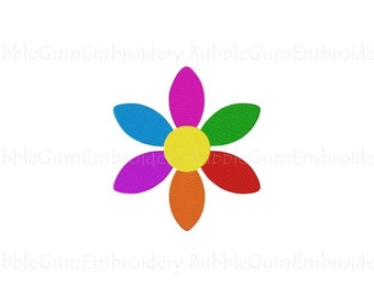 Multicolored Flower Embroidery Design Instant Download