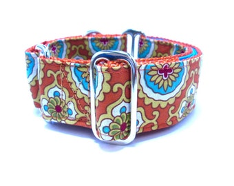 """Houndstown 1.5"""" Shield Martingale or Buckle Collar Size Small through X-Large"""