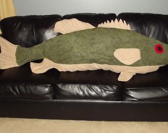 Giant Smallmouth Bass Body Pillow