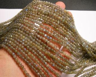 Labradorite - 4 mm beads -1 full strand - 103 beads  - RFG853