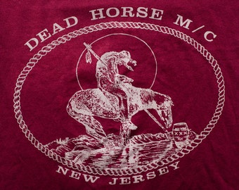 Dead Horse Motorcycle Club T-Shirt, 1993 Tour, New Jersey, Vintage 90s
