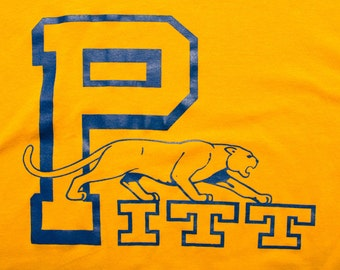 Pitt Panthers T-shirt, Pittsburgh University, RP Sportswear, Vintage 80s