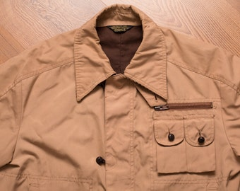 JCPenney Jacket, Brown Casual Outerwear, Corduroy Trim, Vintage 70s-80s