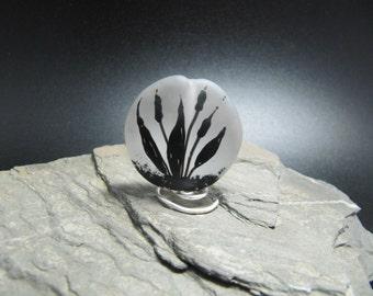 Lampwork Glass Focal Bead - handmade - Bull Rushes