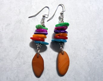Multicolor Seashell Earrings (2541)