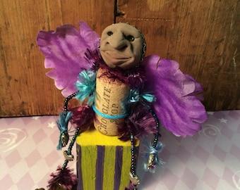 Fairy Art Doll Chocolate Elf OOAK Sugar Plum Fairy