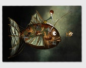 The fish- 11x8 or 16,5x11 inches fine art print- Signed - Printed by a professional