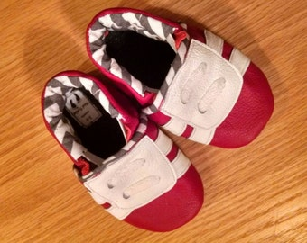 red baby tennies size 3-6 month mud turtles baby shower gift