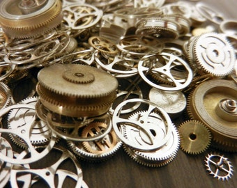 Watch Parts Assorted Gears Sprockets Steampunk Steam Punk Components Findings Embellishments
