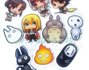 Ghibli sticker set of 10