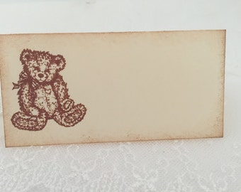 Teddy Bear Placecards Place Cards Food Buffet Candy Bar Signs