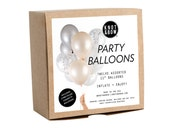 NEW! Blush Copper Party Balloons / Includes 3 Confetti Balloons / 12 count