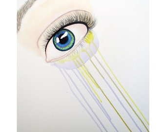 Pushing Past Familiar Sights - Speed Painting - Eye Painting - By Mixed Media Aritst Malinda Prud'homme