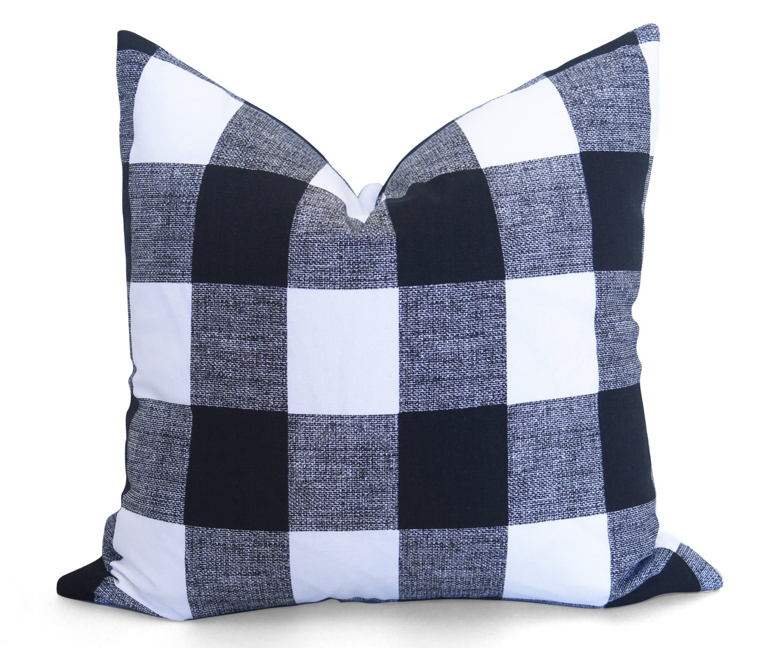 Black Plaid Throw Pillows : Buffalo Check Pillow Cover Black and White Plaid Pillow