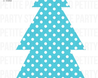 Printable Paper Trees - INSTANT DOWNLOAD - Winter Candyland/Onederland Birthday - Petite Party Studio