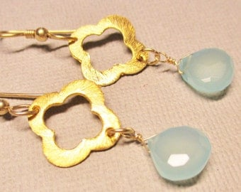 Chalcedony Earrings, Dangle and Drop Earrings, Bridesmaid Earrings