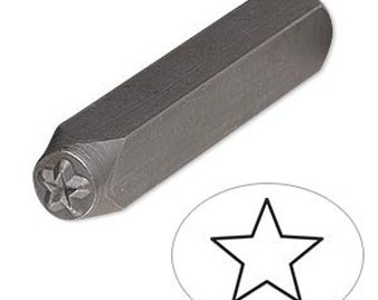 Steel Stamp Punch for Beading & Jewelry Making (Star)